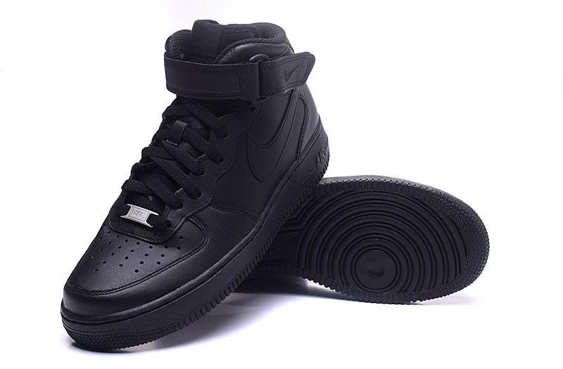 nike air force 1 femme noir daim