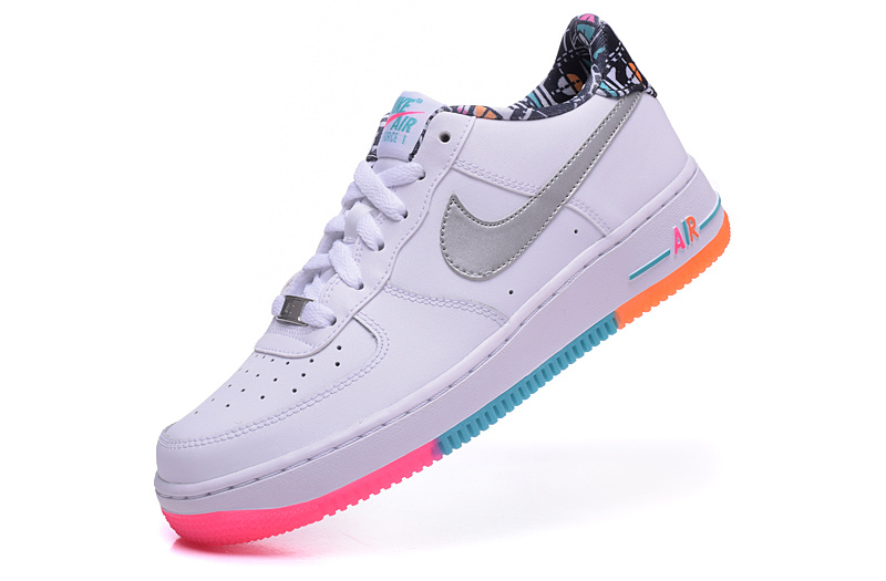 nike air force 1 femme bleu et orange