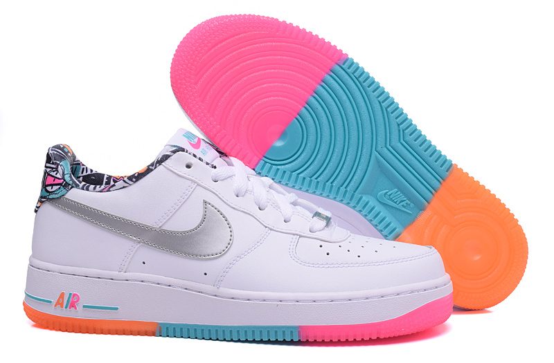 nike air force 1 femme orange et blanche