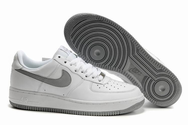 nike air force 1 blanche et grise homme