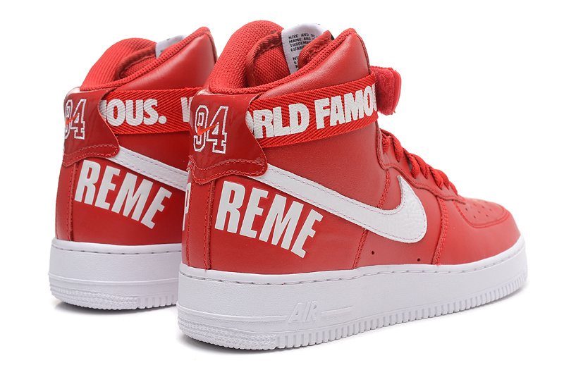 nike air force 1 rouge montante