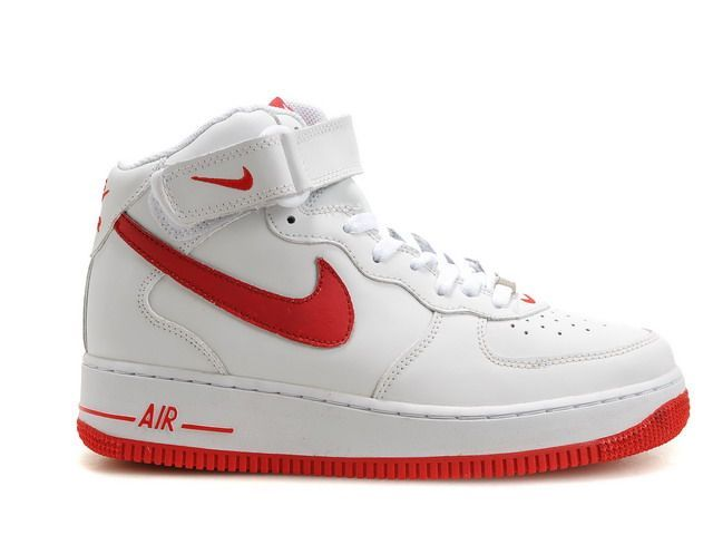 air force one blanche et rouge femme