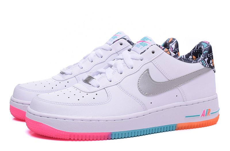 nike air force 1 femme blanche et rose
