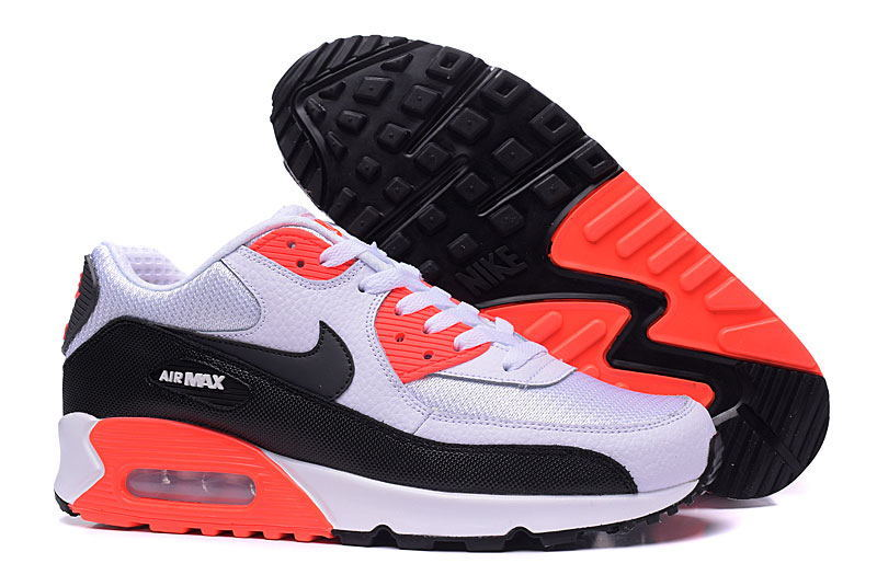 air max blanche et orange fluo