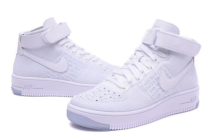 nike air force 1 flyknit low femme blanche